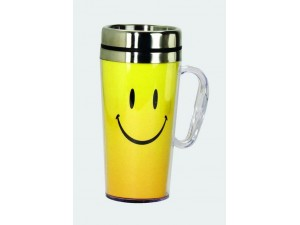 Smiley Face Insulated Travel Mug